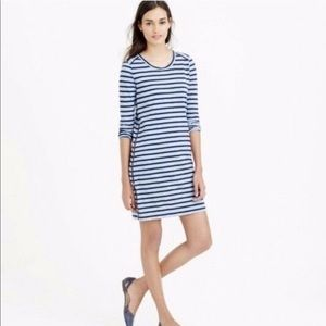 J Crew Striped Dress Functional Zippers on Sides